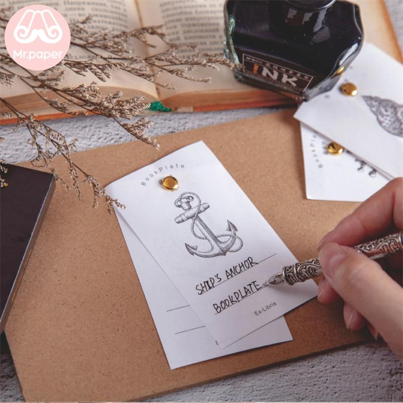 Купить с кэшбэком Mr.paper 60pcs/box Vintage Story Writing Paper Bookplate Scrapbooking/Journaling Project DIY Deco Write Points Down LOMO Cards