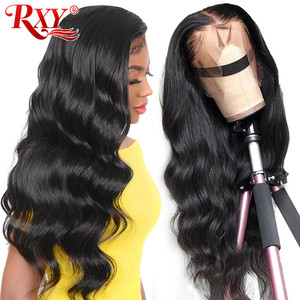 Pre Plucked 250 Density 13x4 Lace Front Human Hair Wigs For Black Women Body Wave Rxy Brazilian Remy Hair Lace Frontal Wig 13x6