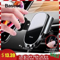 Baseus auto-bloqueado suporte do telefone do carro sensor de gravidade suporte do telefone móvel no carro para o iphone xs max xr suporte de smartphone do carro