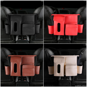 Image 3 - Multifunction Car Rear Seat Back Storage Bag PU Leather Hanging Organizer Bag Auto Stowing Tidying Interior Accessories Supplies