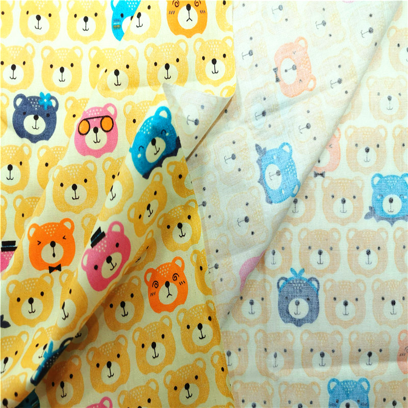 Patchwork Textile Cotton Cloth Bear Print Twill Cotton Fabric For DIY Sewing Quilting Child Baby Clothing Fabric By Meters in Fabric from Home Garden