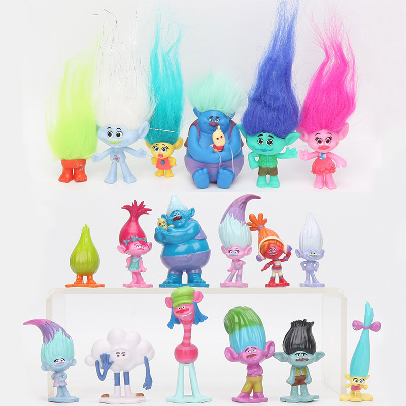 6Pcs/12pcs Trolls Toys Action Toys Branch Critter Skitter Figures Trolls Children Action Figure Toy Children Gift