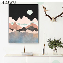 Modern Nordic Art Home Canvas Painting  Abstract Scenery Printing Posters Wall Pictures for Livingroom Decor DJ318