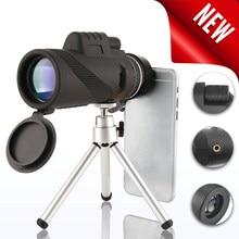 Монокуляр 40x60 мощный бинокль высокое качество отличный ручной телескоп lll ночное видение военный HD Профессиональный охотничий