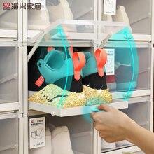 Выдвижная коробка для обуви прозрачный пластиковый обувной шкаф