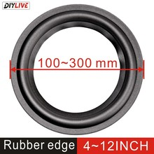 DIYLIVE 4 12 rubber surround edge folding ring subwoofer woofer repair accessories 100 300mm 4 5