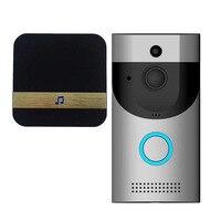 1 Pcs Wireless Smart WiFi Door Bell IR Video Visual Camera Intercom Home Security Ring New Arrival Hot Sale