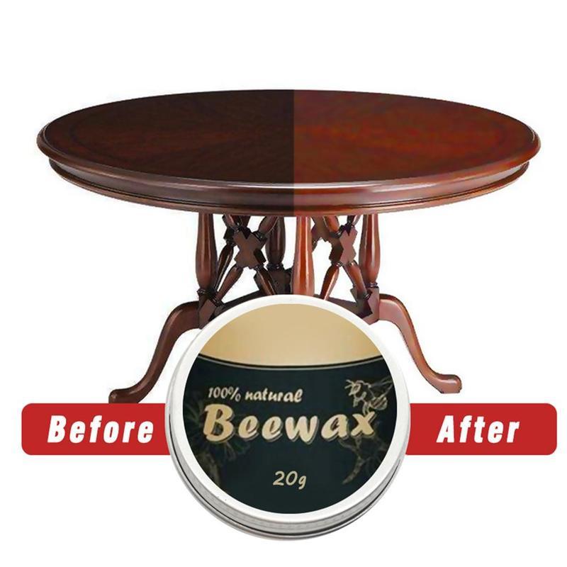 20g/200g Natural Pure Beeswax Wood Seasoning Beewax Wood Care Wax Solid Wood Maintenance Wood Polishing Waxing