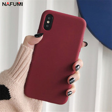 Buy Silicone Candy Solid Color Phone Case For iPhone 8 7 6 6s Plus Plain Cover For iPhone 10 X XR XS MAX Back Protect Soft TPU Funda directly from merchant!