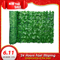 Artificial Leaf Privacy Fence Roll Wall Landscaping Fence Privacy Fence Screen Outdoor Garden Backyard Balcony Fence