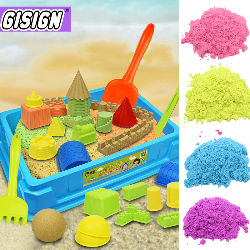 100g Magic Sand Toy Soft Clay Slime Educational Colored Space Sand Supplies Play Sand Antistress Kids Toys For Children
