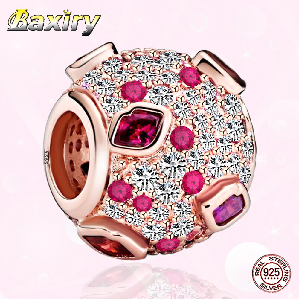 2020 New Shiny 100% Sterling Silver Charms Bead Fit Pandora Charm Silver 925 Original Bracelets Zircon Beads  Jewelry DIY Making