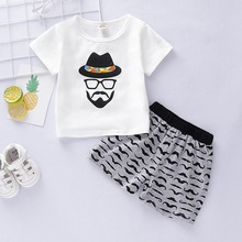 2019 Summer Baby Boy Clothes Kids Clothes For Boy Fashion Print Short Sleeve Tops+Comfortable Short Pant Baby Set Bot 1-3T D35 format kids boy 16