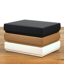 10pcs Black/White Thicken Kraft Paper Packing Gift Boxes DIY Candy/Wedding/Party/Crafts/Gifts/Candy Storage Boxes Aircraft Box 10pcs lot cake candy hand strap butterfly decorative gifts paper foldable box for apple candy cookie party gifts packing box