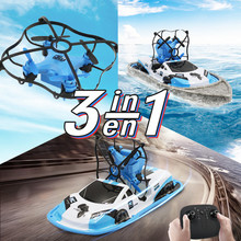 3 in 1 RC Mini Drone Car Boat Colors Vehicle Helicopter Dron Quadrocopter Remote Control Toys for Boys Girls Birthday Gift