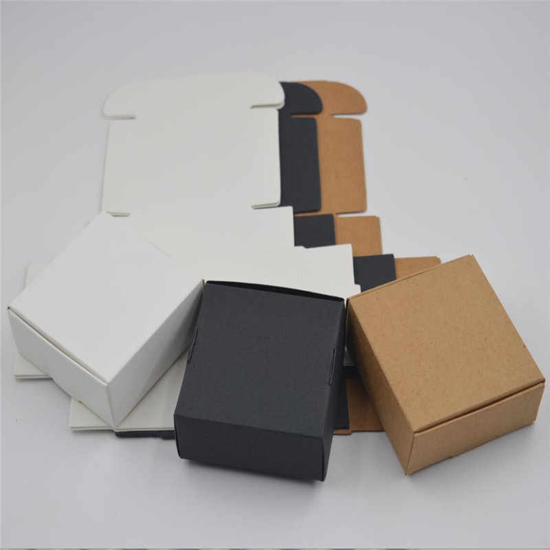 5pcs 14 sizes Mini Kraft Paper Box,Small Craft Gift Box for Packaging,Cardboard Handmade Soap Box,Wedding Party Candy Boxes