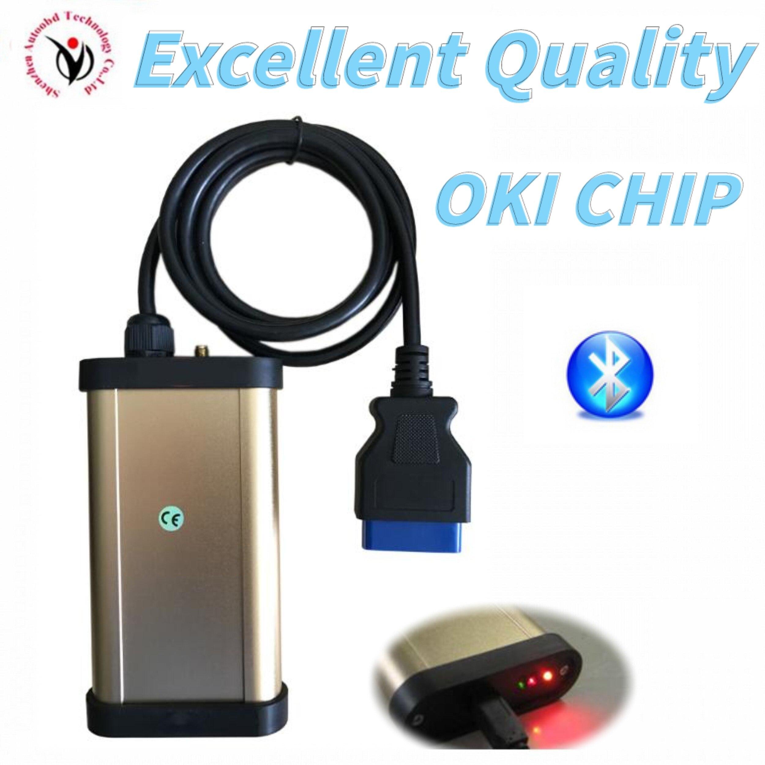 2020 Best VD TCS CDP PRO Plus 2016.R0 Free Keygen Oki Chip Bluetooth Vd Ds150e Cdp For Delphis Car Truck OBD2 Diagnostic Tool