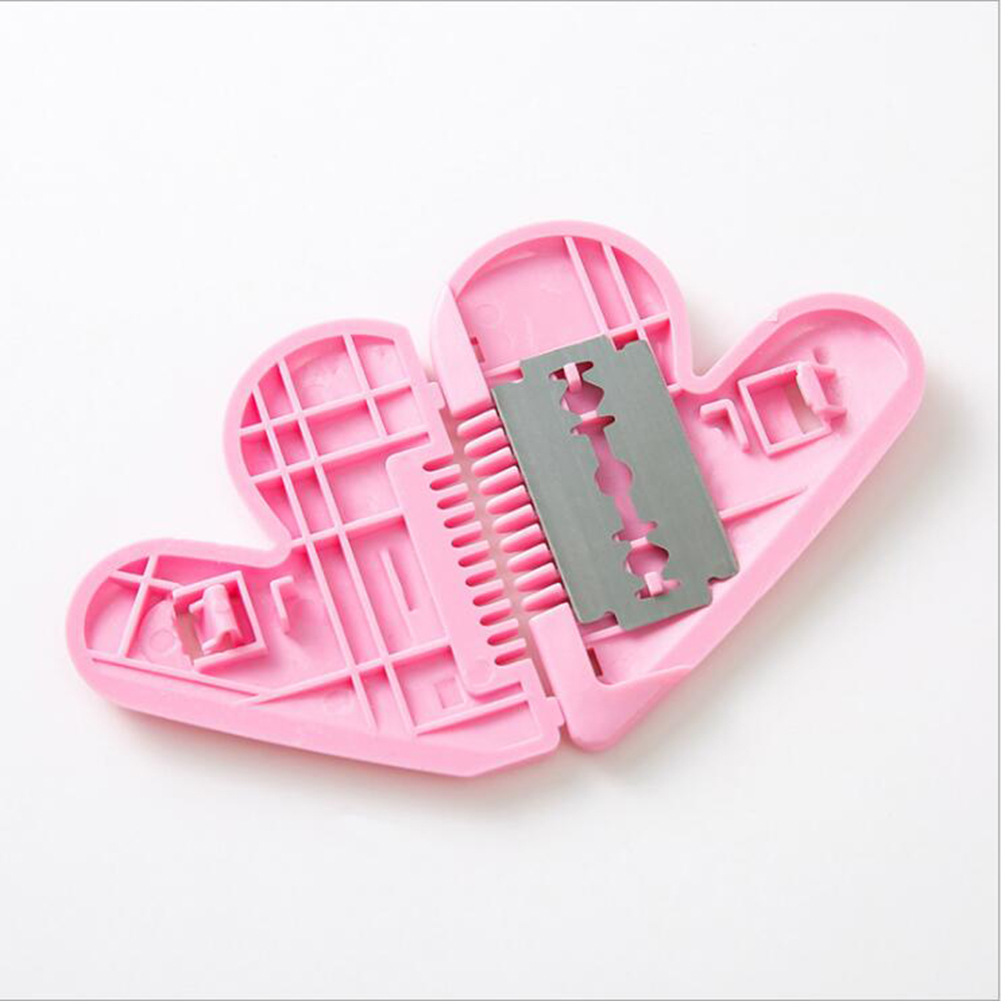 Heart Shape Double-sided Hair Cutting Comb Hair Remover Trimming Tools Women Mini Trimming Accessories