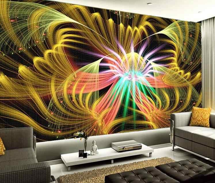 3d обои на заказ Европейский красочный цветок арт бар гостиная спальня домашний декор обои