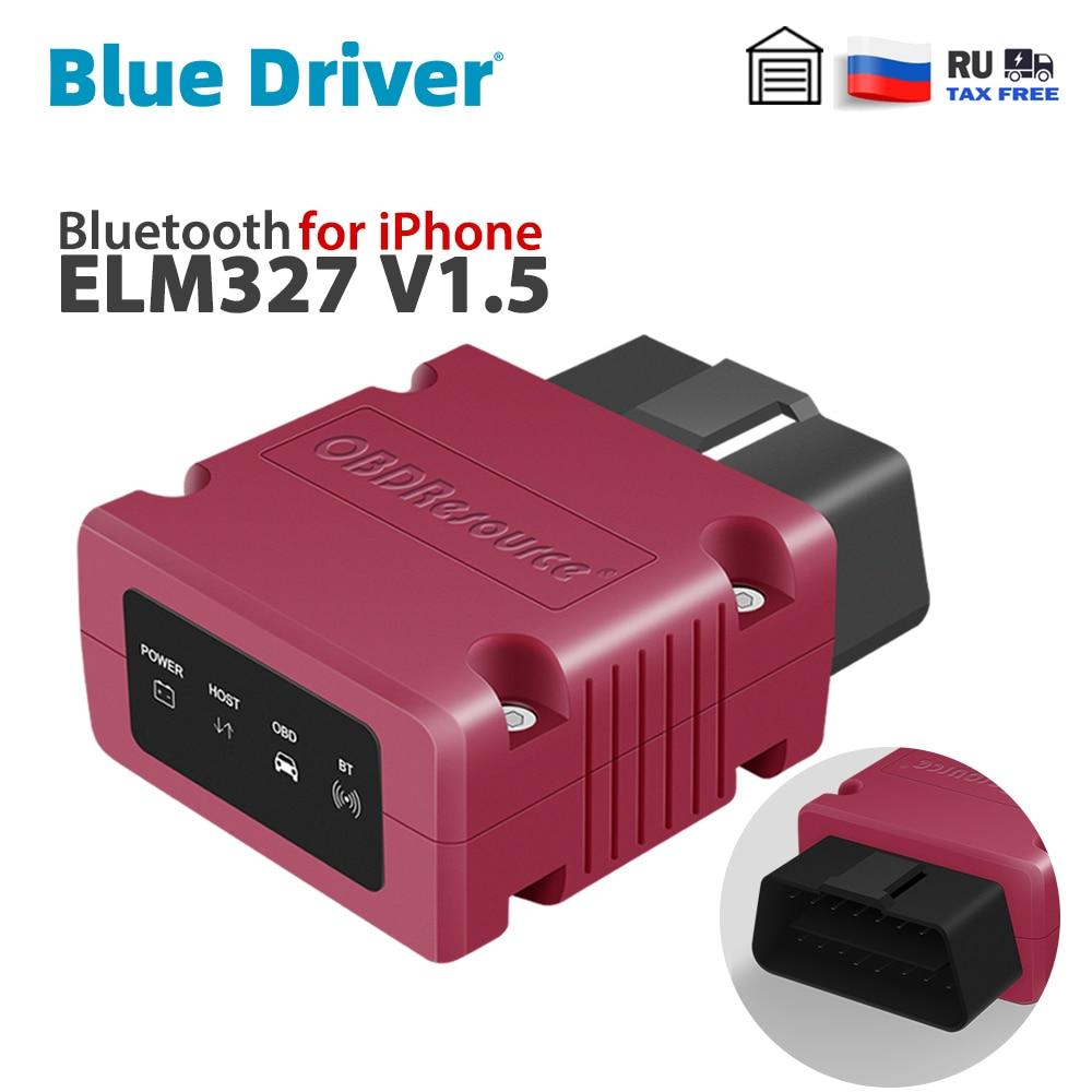 Bluetooth ELM327 V1.5 для iPhone, Бесплатный обновленный автомобильный считыватель кодов двигателя, Автомобильный сканер OBD2 с чипсетом PIC18F25K80