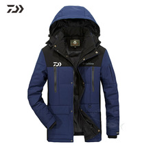 Уличная одежда для рыбалки Daiwa со съемным капюшоном, зимняя Осенняя утепленная куртка для рыбалки, мужская зимняя куртка из кусков