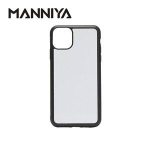 Image 1 - MANNIYA pour iphone 11/11 Pro/11 Pro Max Sublimation vierge coque de téléphone en caoutchouc + PC avec inserts en aluminium 100 pièces/lot