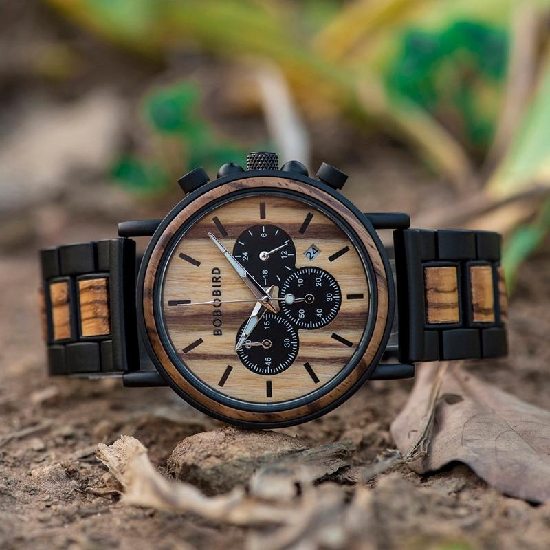 BOBO BIRD Military Wooden Watch WP09