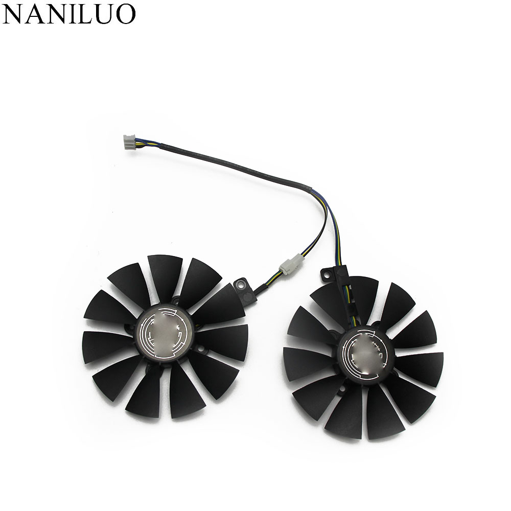87MM Cooler Fan For ASUS GTX1060 1070 Ti <font><b>RX</b></font> <font><b>470</b></font> 570 580 <font><b>Graphics</b></font> <font><b>Card</b></font> T129215SU PLD09210S12HH 28mm Cooling Fans image