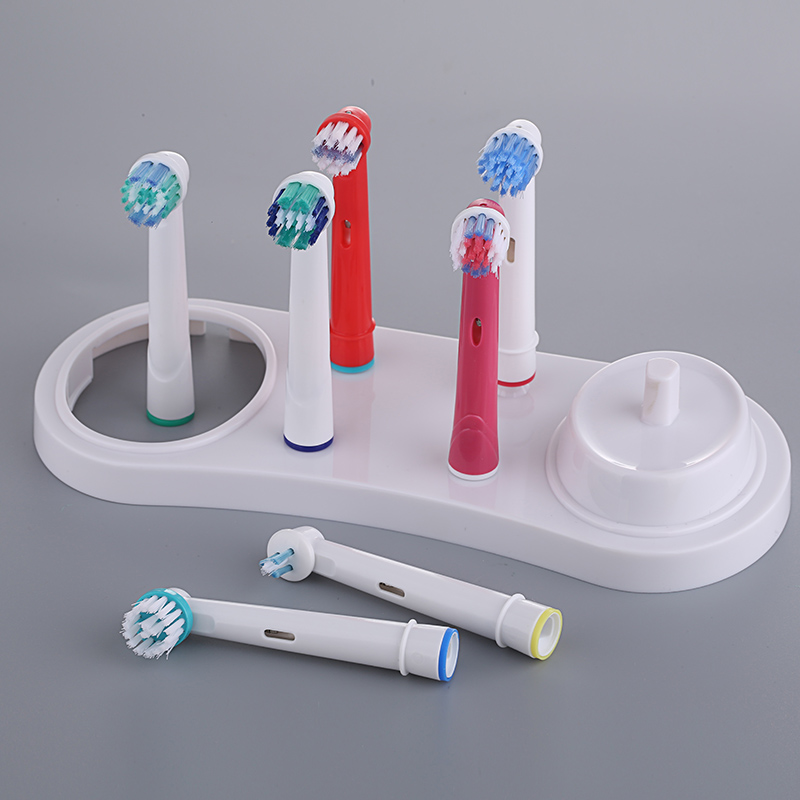 NEW-Electric Toothbrushes Holder Stand Support White Tooth Brush Heads Base With Charger Hole For Oral B 3709 3728 D18 image