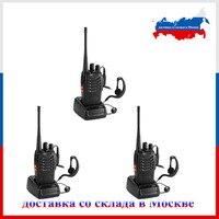 3PCS Baofeng BF 888S bf888S Two Way Radio BF 888S 6km Walkie Talkie 5W Portable CB Ham Radio Handheld HF Transceiver + earphone