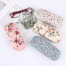 1PC moda przenośne tkaniny kwiatowe etui na okulary czytanie pudełko na okulary okulary torby etui na okulary twardy ochraniacz na okulary