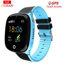 GEJIAN Anti Lost Child Watch GPS Tracker SOS Smart Monitoring Positioning Phone IP67 waterproof Kids Watch For IOS Android G53(China)