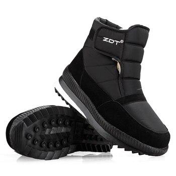 Men snow boots 2020 men winter shoes warm waterproof non-slip platform boots for men botas de hombres size 40 - 45 5
