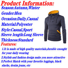 Slim O Neck Polyester Hoodie Men Solid Long Sleeve Mens Hoodies Plain Hooded Sweatshirt Homme Casual Sweatshirts Male