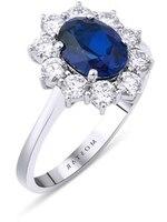 Mostar jewellery white gold sapphire diamond ring