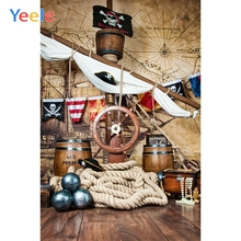 Yeele Pirate Birthday Backdrops For Photography Ship Deck World Map Party Baby Portrait Photo Backgrounds Photocall Photo Studio
