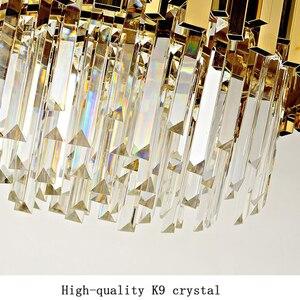 Image 5 - Jmmxiuz nieuwe luxe kristallen kroonluchter verlichting moderne lamp voor woonkamer eetkamer goud kristallen kroonluchter LED verlichting