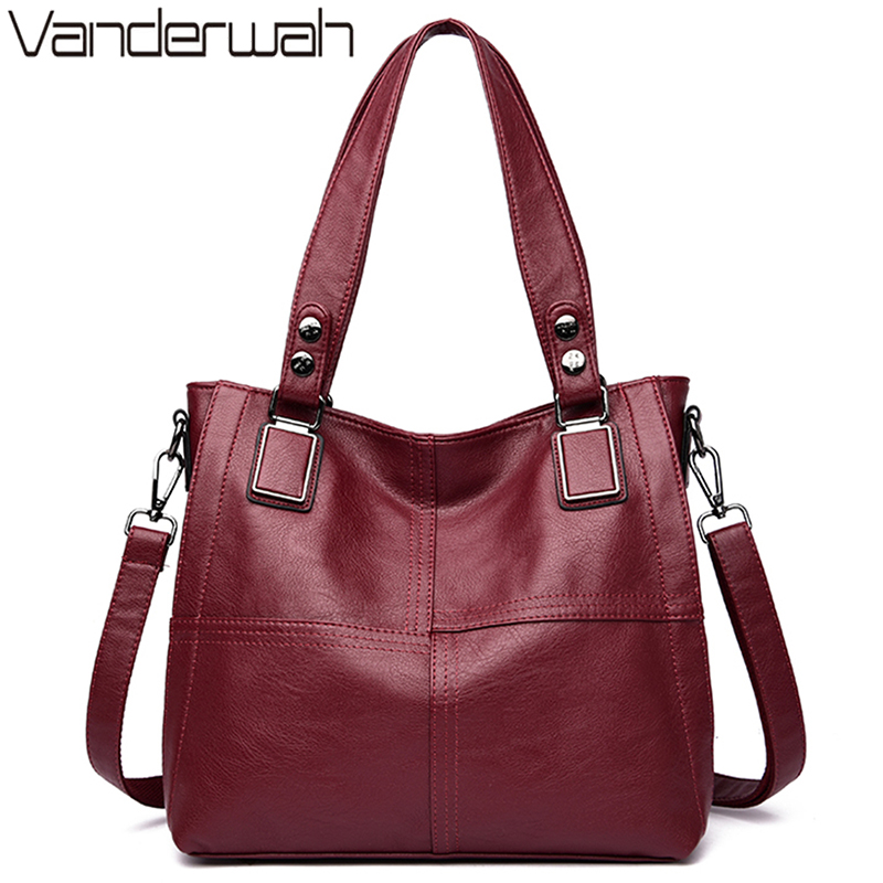 Leather Luxury Handbags Women Bags Designer Handbags Ladies Shoulder Hand Bags For Women 2019 Large Casual Tote Sac Bolsa Femini