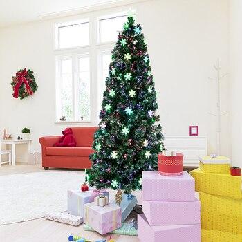 7FT Small Light Fiber Optic Christmas Tree 290 Branches Low Light Fiber Optic Christmas Tree Home Festival Decorations