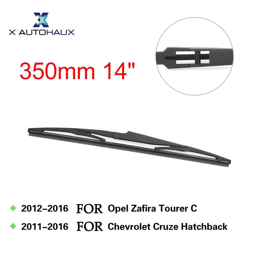 350mm 14inch X AUTOHAUX Black Vehicle Rear Windscreen Wiper Blade Arm Kit