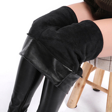 Pu Leather Pants Women Faux Leggings Winter Keep Warm High Waisted Jegging Ankle-length S-3XL Plush velvet legging