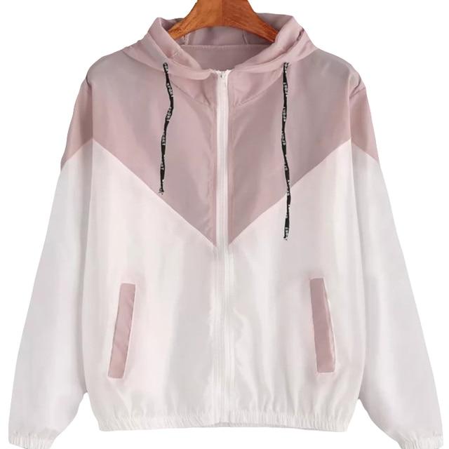Fashion 2021 Autumn Quick Dry Women's Jackets Coats Windbreaker Sun Protection Patchwork Color Zipper Thin Summer Women Clothing 1