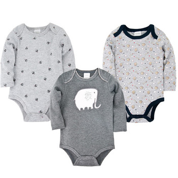 Baby Clothes Romper 3pcs Newborn Clothes 100% Cotton Spring Jumpsuit Baby Boy Girl Toddler Clothing new baby boy clothing set summer baby cotton bodysuit elephant printed romper animal bibs 3pcs set newborn baby girl clothes