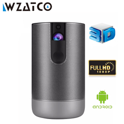 WZATCO D2 3D Smart Projector Full HD 1920x1080 Android 7.1 5G wifi 300Inch DLP Proyector Support 4K Video Game LED Beamer