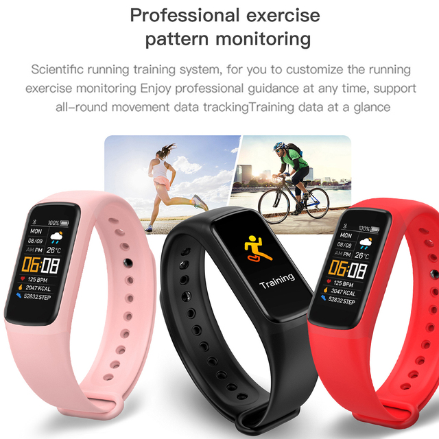 Fitness Bracele Waterproof Sport Fitness Tracker Blood Pressure Heart Rate Pedometer Smart Band Watch For Android IOS 6