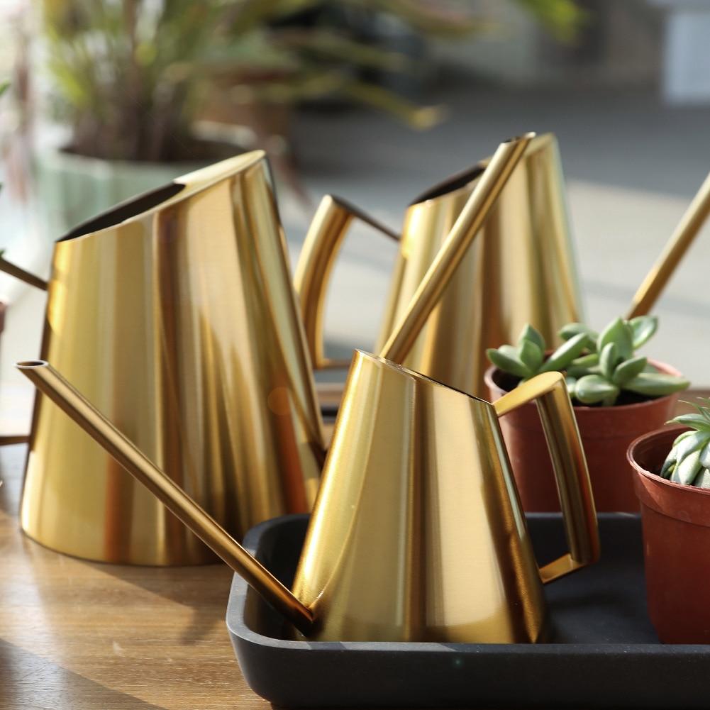 Горшок для полива из нержавеющей стали Садоводство в горшке маленький полив может использовать ручку идеально подходит для полива растени...