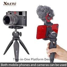 Mini ขาตั้งกล้องตาราง Top Stand โทรศัพท์ Mount ขาตั้งกล้องเดินทางขนาดกะทัดรัดสำหรับกล้อง Iphone 5 6 7 8 Plus X XR XS สูงสุด11 Pro Huawei SAMSUNG