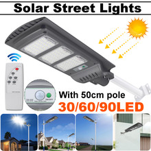 Lámpara Solar LED de 40W/80W/120W con barra de 50cm Luz de calle Radar PIR Sensor de movimiento lámpara de seguridad para jardín al aire libre Plaza Yard