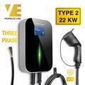 32A 3Phase EV Ladegerät Elektrische Fahrzeug Ladestation mit Typ 2 Kabel IEC 62196-2 für Audi Mercedes -Benz MINI Cooper Smart