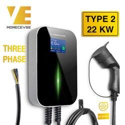 32A Fase 3 EV cargador de vehículo eléctrico de la estación de carga con el tipo 2 IEC 62196-2 para Audi Mercedes-Benz MINI Cooper inteligente